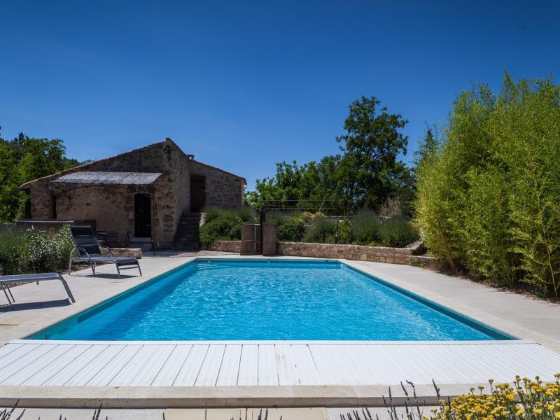 Old Provencal mill renovated in the southern Luberon (Provence)